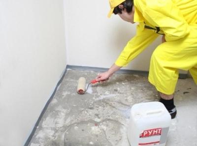 Грунтовка бетонного пола перед укладкой фанеры