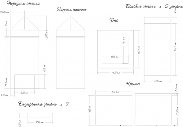 Проект простого неразборного домика