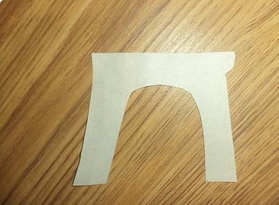 Фотография шаблона для ножек табуретки