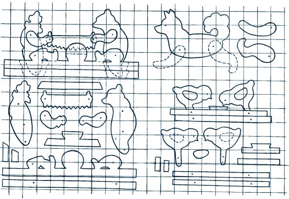 Схема игрушки для детей из фанеры