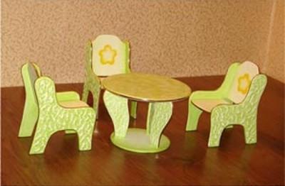 Набор детской мебели из фанеры