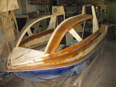 Процесс изготовления лодки