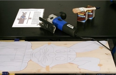 Перенос рисунка с шаблона на фанеру