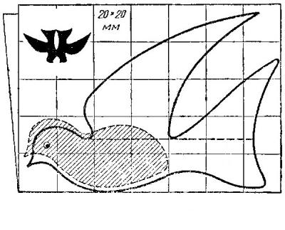 Простой чертеж голубя