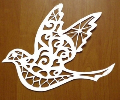 Шаблон ажурного голубя