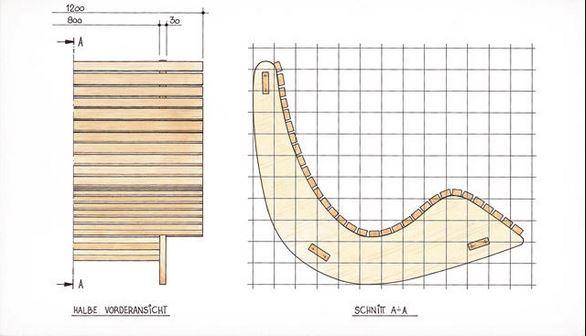 Простая модель кресла