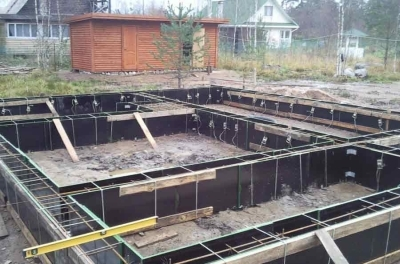 Опалубка для строительства фундамента