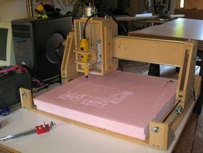 Станок ЧПУ для резки фанеры, изготовленный самостоятельно