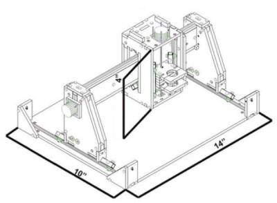Эскиз станка с основными параметрами