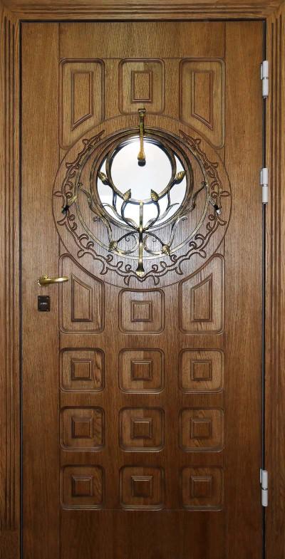 Дверь из корабельной фанеры с илюминатором