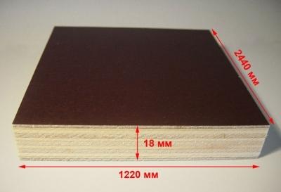 Фанера ламинированная толщиной 18 мм