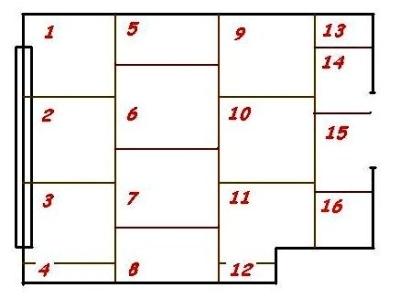 Схема нумерации деталей