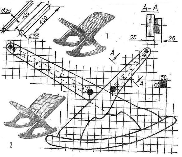 Пример чертежа кресла