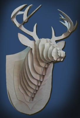 Фанерная голова оленя