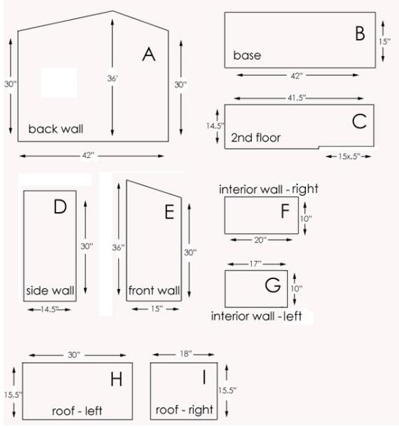 Домик для Барби из фанерных листов