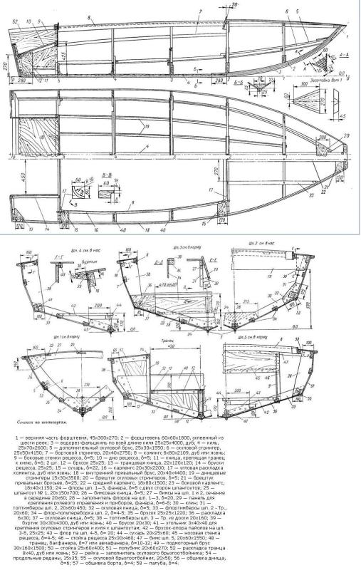 Чертежи лодки