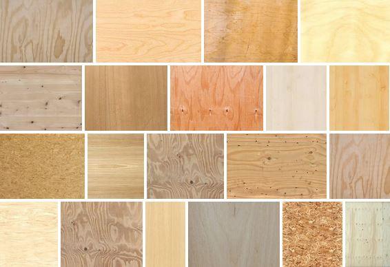 Разнообразие фанерного материала