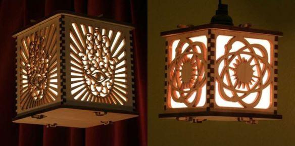 Светильники, изготовленные на лазерной установке