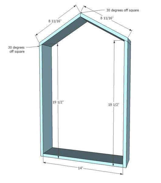 Размеры рамы и крыши на чертеже