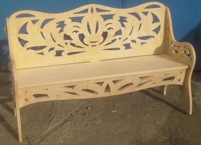 Элемент мебели после фрезеровки
