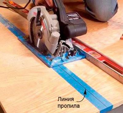 Защита краев от сколов изолирующей лентой