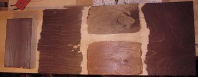 Результат вскрытия поверхности разными морилками