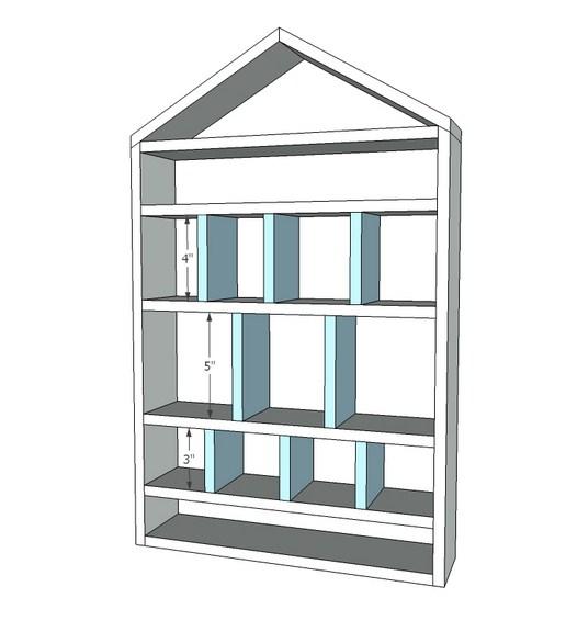 Этап установки вертикальных перегородок
