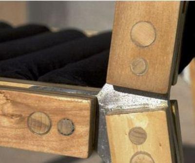 Соединение деталей фанерного стульчика