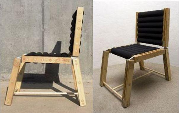 Готовый самодельный стульчик