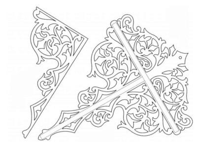 Схема декоративной полочки