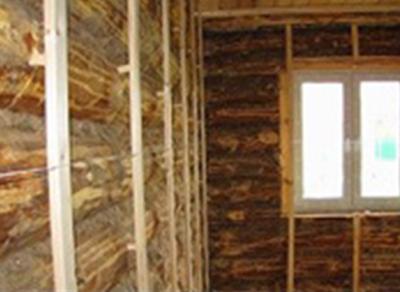 Создание каркаса в бревенчатом доме