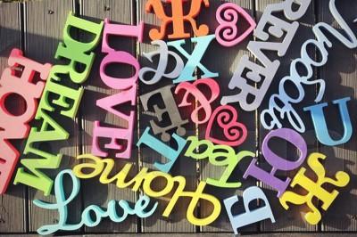 Окрашенные буквы