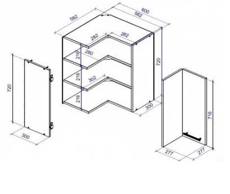 Шкаф угловой для кухни своими руками