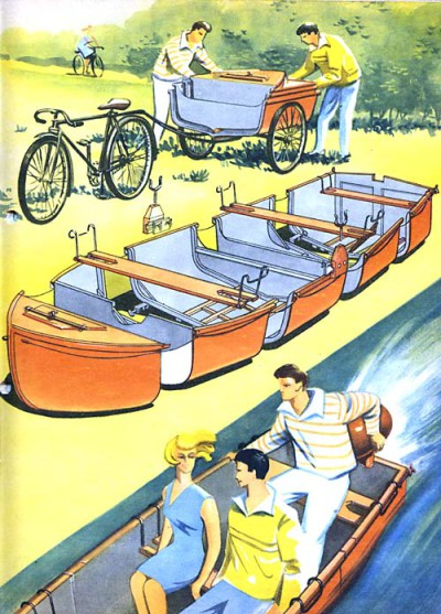 Складная лодка и ее транспортировка